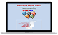Memoriad - Memorization of Special Numbers